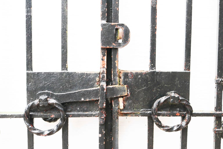 Pair of Reclaimed Wrought Iron Driveway Gates For Sale 3