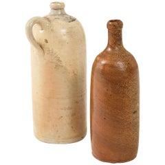 Pair of 16th & 17th Century German Salt Glazed Stoneware Beer Casks