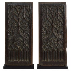 Pair of 16th Century French Gothic Oak Panels
