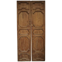 Pair of 17th Century Chestnut Wood Doors from Umbria, Italy