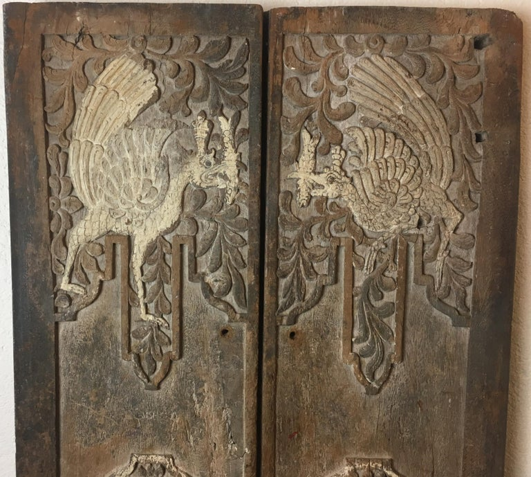 Pair of 17th Century Chinese Carved Doors or Panels For Sale 3