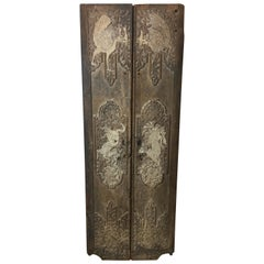 Pair of 17th Century Chinese Carved Doors or Panels