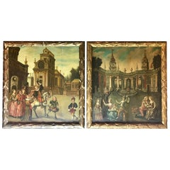 Pair of 17th Century Old Master Paintings, Oil on Panel