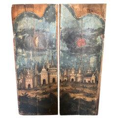 Pair of 17th Century Spanish Altar Panels