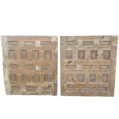 Pair of 17th Century Spanish Carved Panels