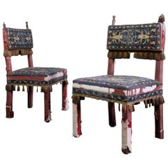 Pair of 17th Century Style Chairs by George Trollope & Son