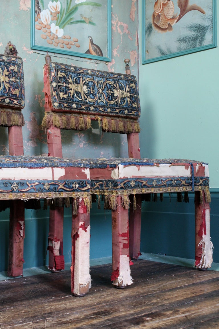 Arts and Crafts Pair of 17th Century Style Chairs by George Trollope & Son For Sale
