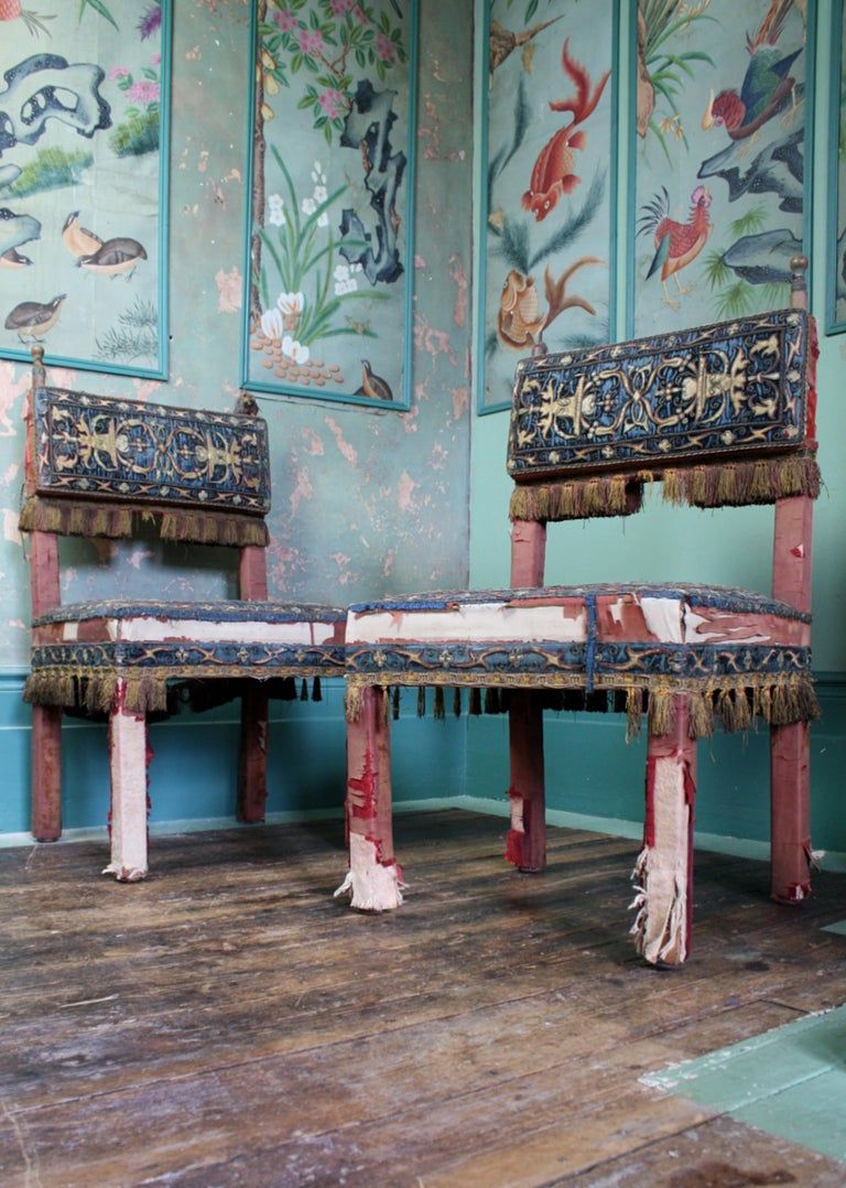 Pair of 17th Century Style Chairs by George Trollope & Son For Sale 2