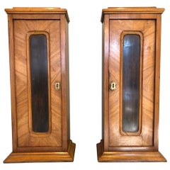 Pair of 1850s Northern European What-Not Cabinets
