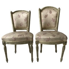 Pair of 1870s French Louis XVI Side Chairs
