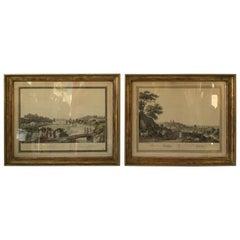 Pair of 1870s German Prints of Oppenheim