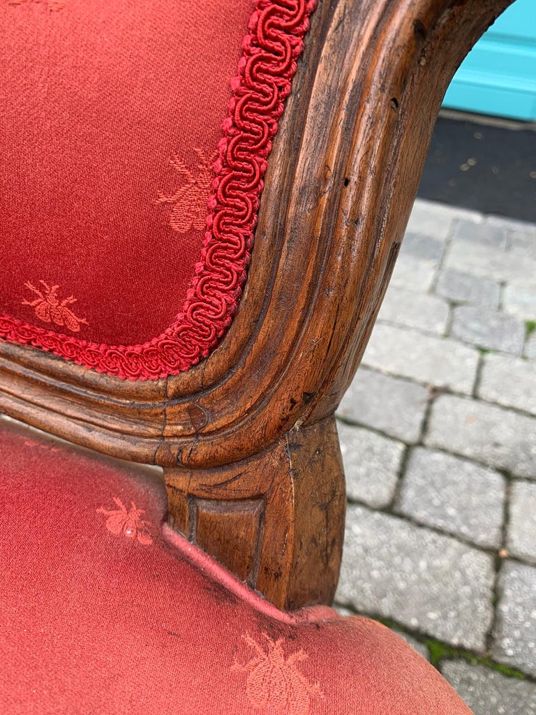 Pair of 18th-19th Century Italian Armchairs For Sale 6