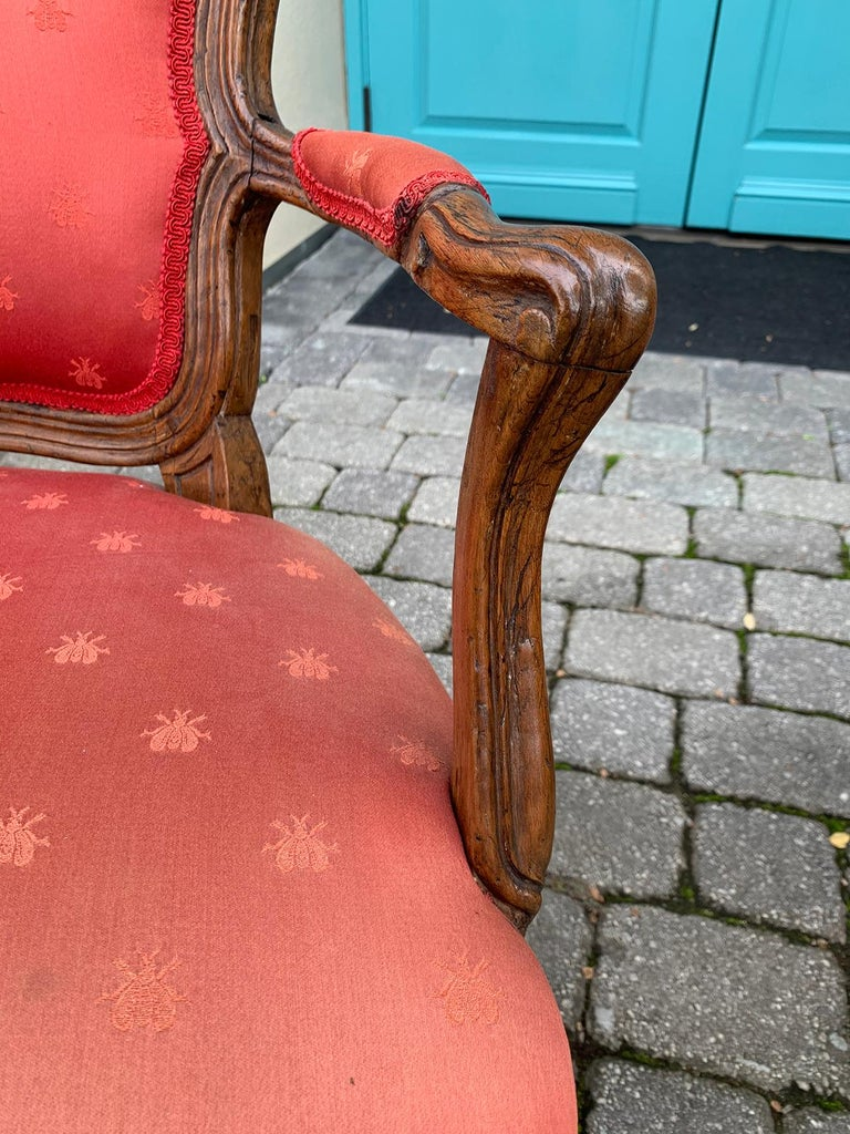 Pair of 18th-19th Century Italian Armchairs For Sale 8
