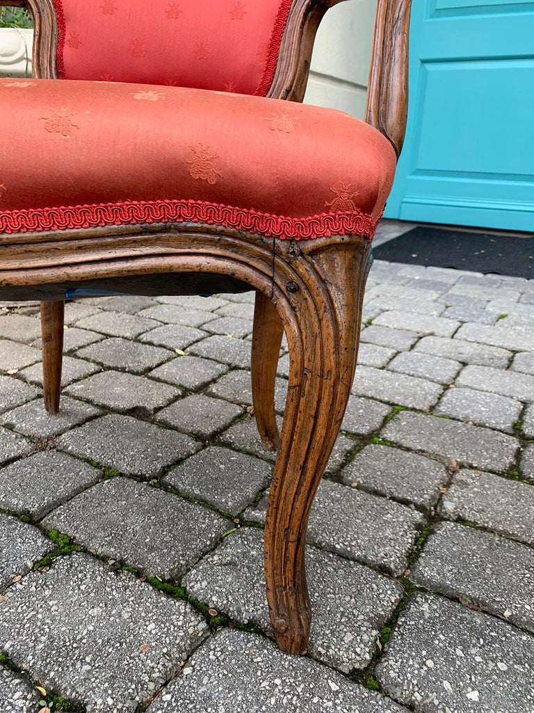 Pair of 18th-19th Century Italian Armchairs For Sale 11