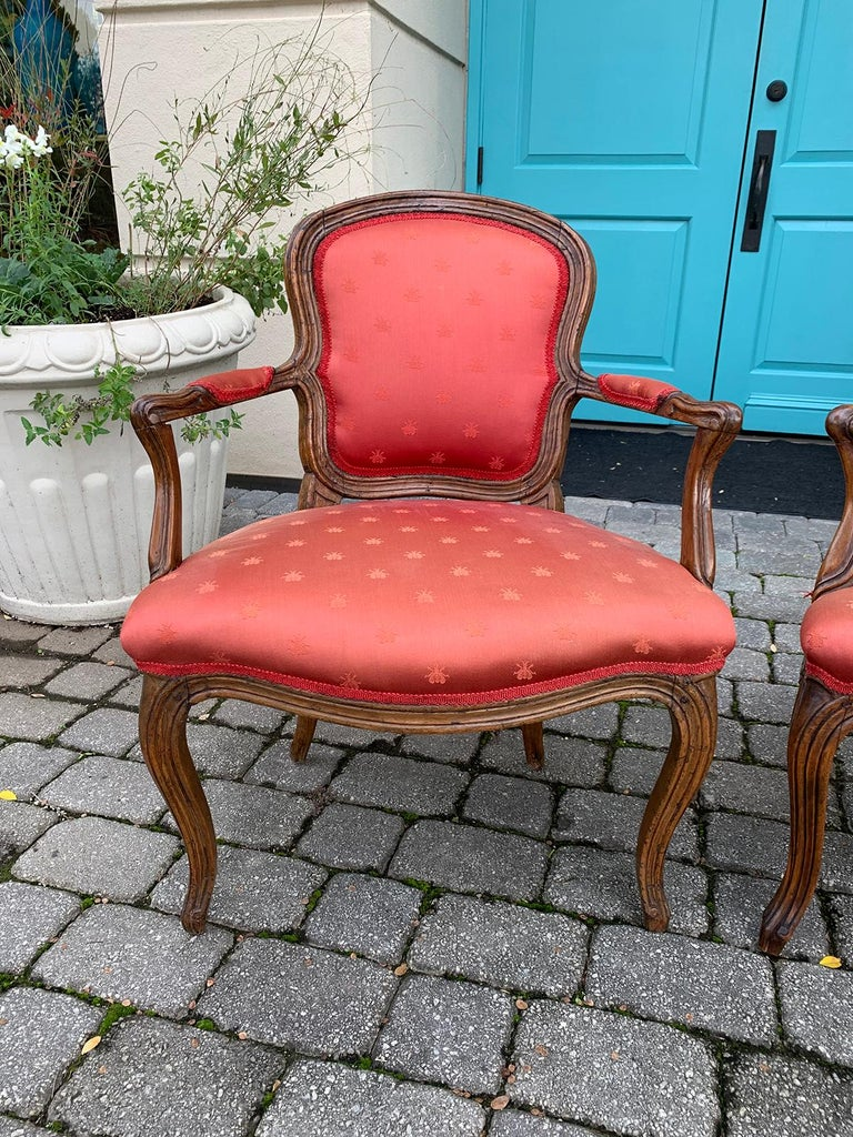 Pair of 18th-19th Century Italian Armchairs For Sale 14