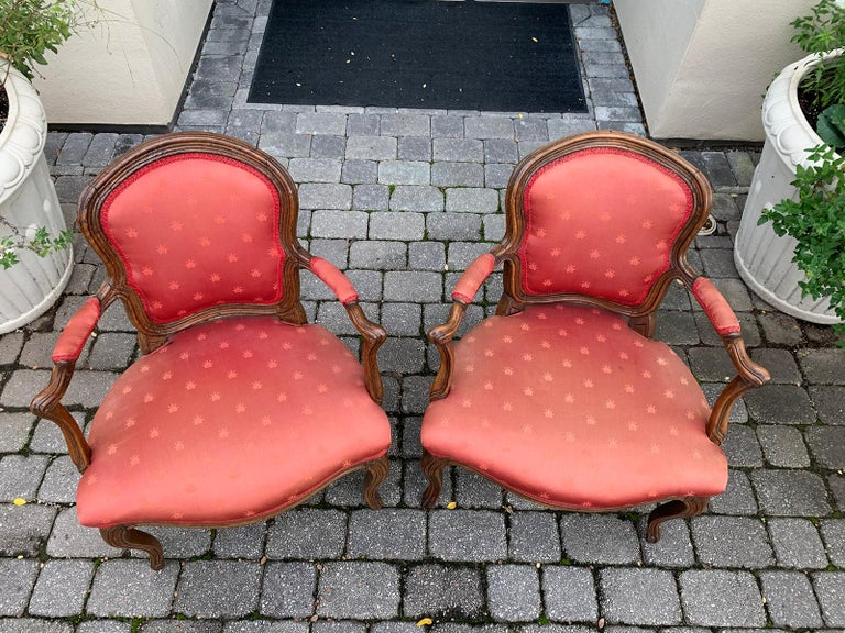 Pair of 18th-19th Century Italian Armchairs For Sale 15