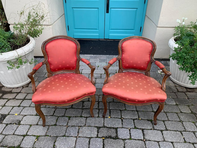 Pair of 18th-19th Century Italian Armchairs For Sale 16