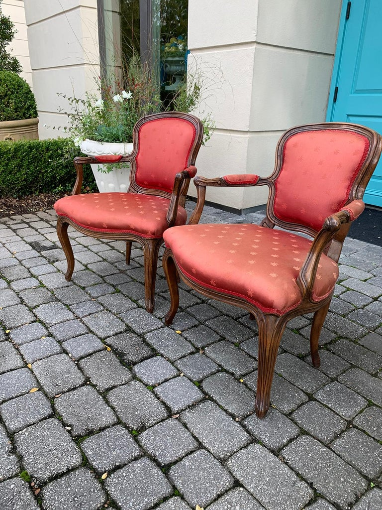 Pair of 18th-19th Century Italian Armchairs In Good Condition For Sale In Atlanta, GA
