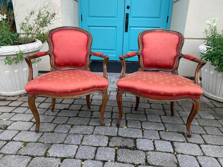 Pair of 18th-19th Century Italian Armchairs For Sale 2