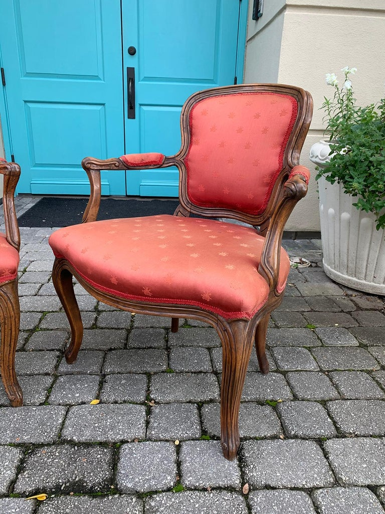 Pair of 18th-19th Century Italian Armchairs For Sale 3