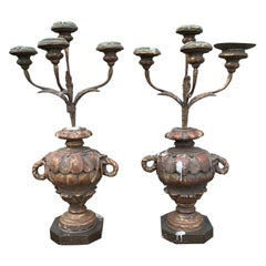 Pair of 18th-19th Century Italian Candelabras