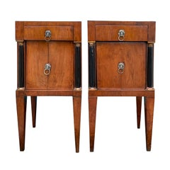 Pair of 19th Century Italian Directoire Commodinis