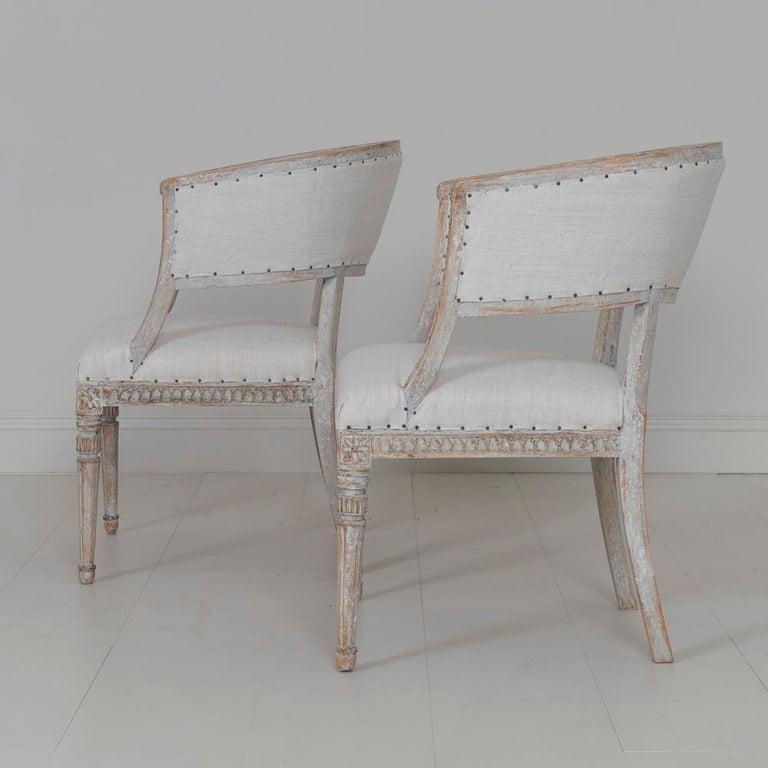 Pair of 18th Century Swedish Gustavian Period Original PaintSulla Chairs - Set 2 For Sale 8