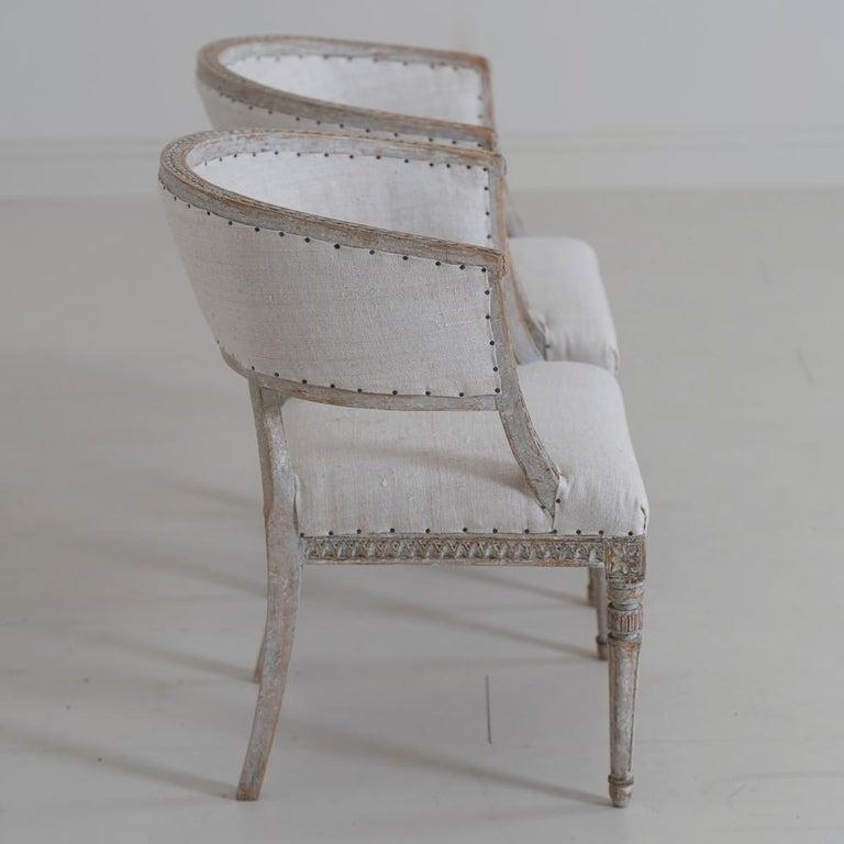 Pair of 18th Century Swedish Gustavian Period Original PaintSulla Chairs - Set 2 For Sale 2