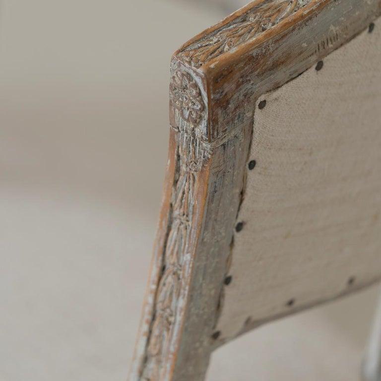 Pair of 18th Century Swedish Gustavian Period Original PaintSulla Chairs - Set 2 For Sale 4