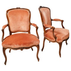 Pair of 18th Cent. French Armchairs by J. B. Boulard, Circa 1765