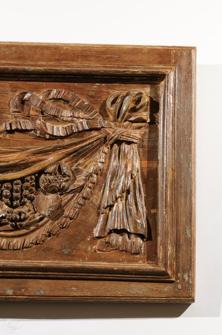 Pair Of 18th Century Architectural Panels With Swags Hand