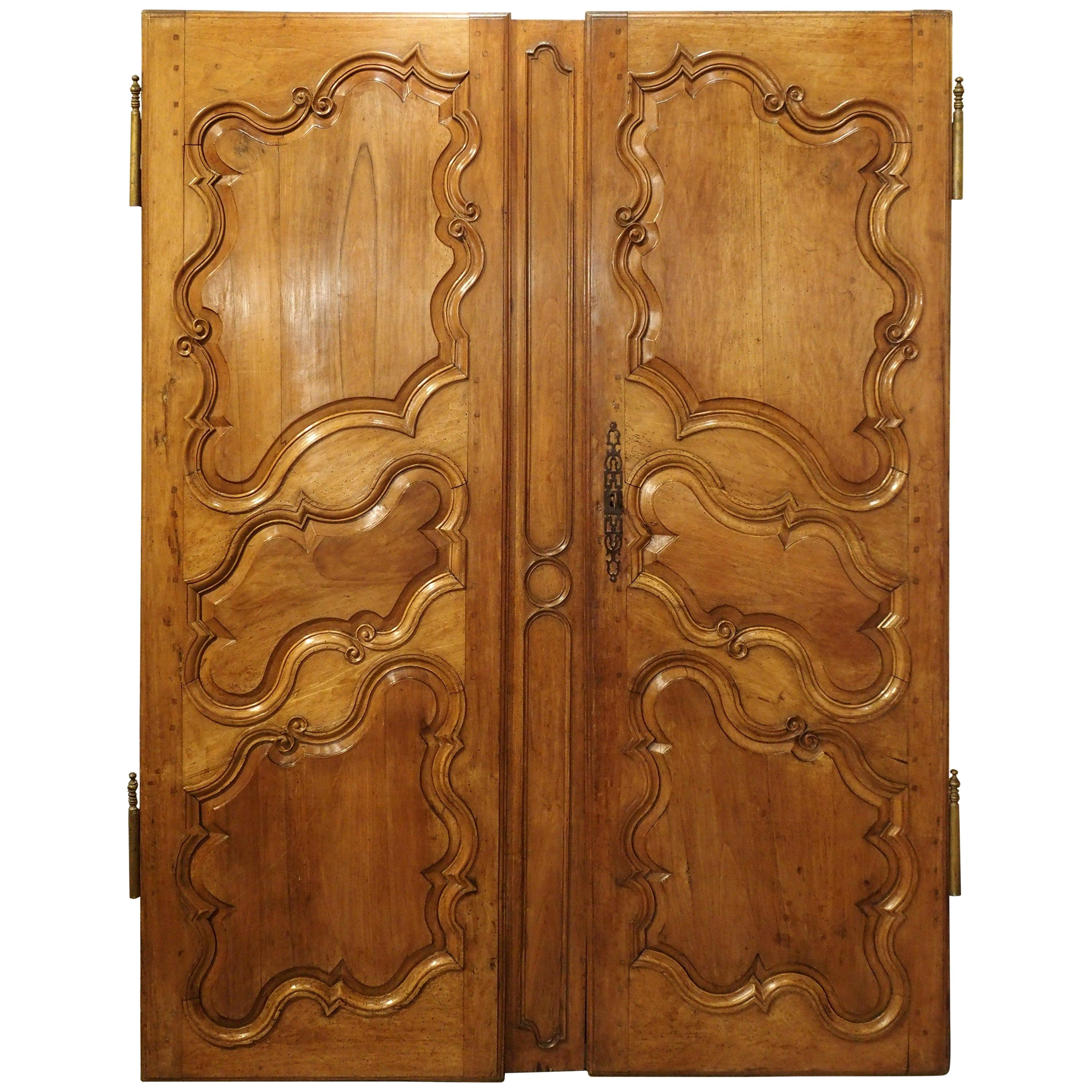 Pair of 18th Century Armoire Doors from Arles, France