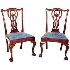 Pair of 18th Century Baltimore Mahogany Chippendale Side Chairs