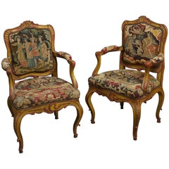 Pair of 18th Century Bavarian Painted Armchairs