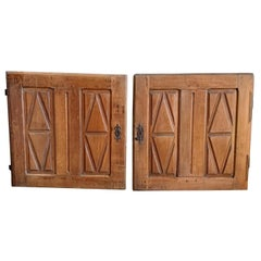 Pair of 18th Century Cabinet Doors, Cherry