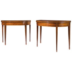 Pair of 18th Century Card Tables