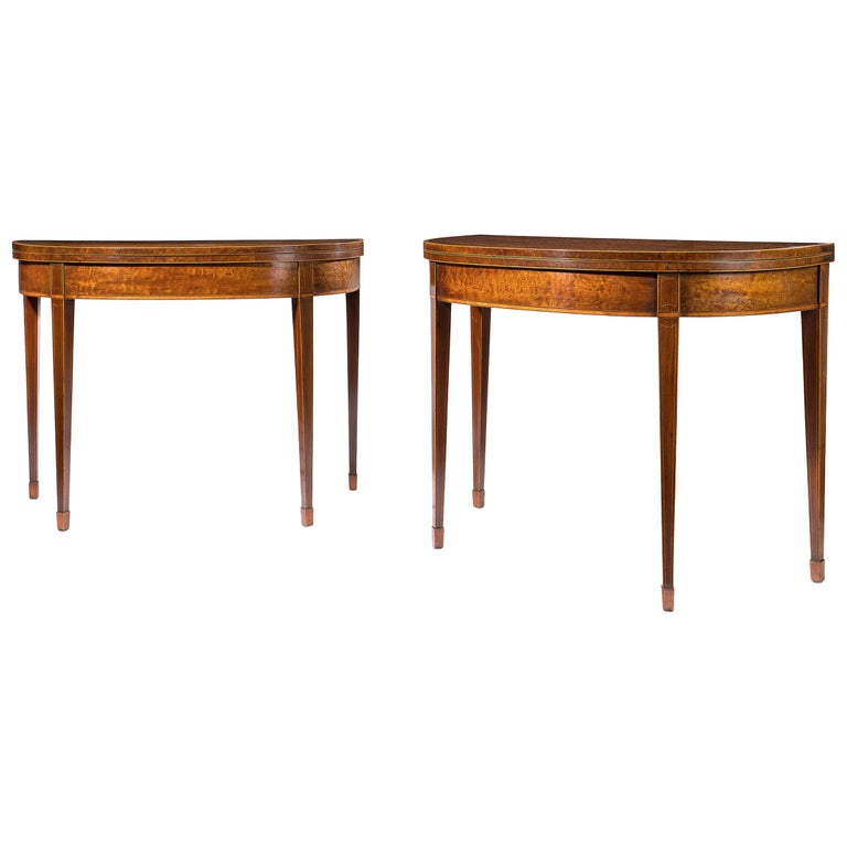 Pair of 18th Century Card Tables For Sale