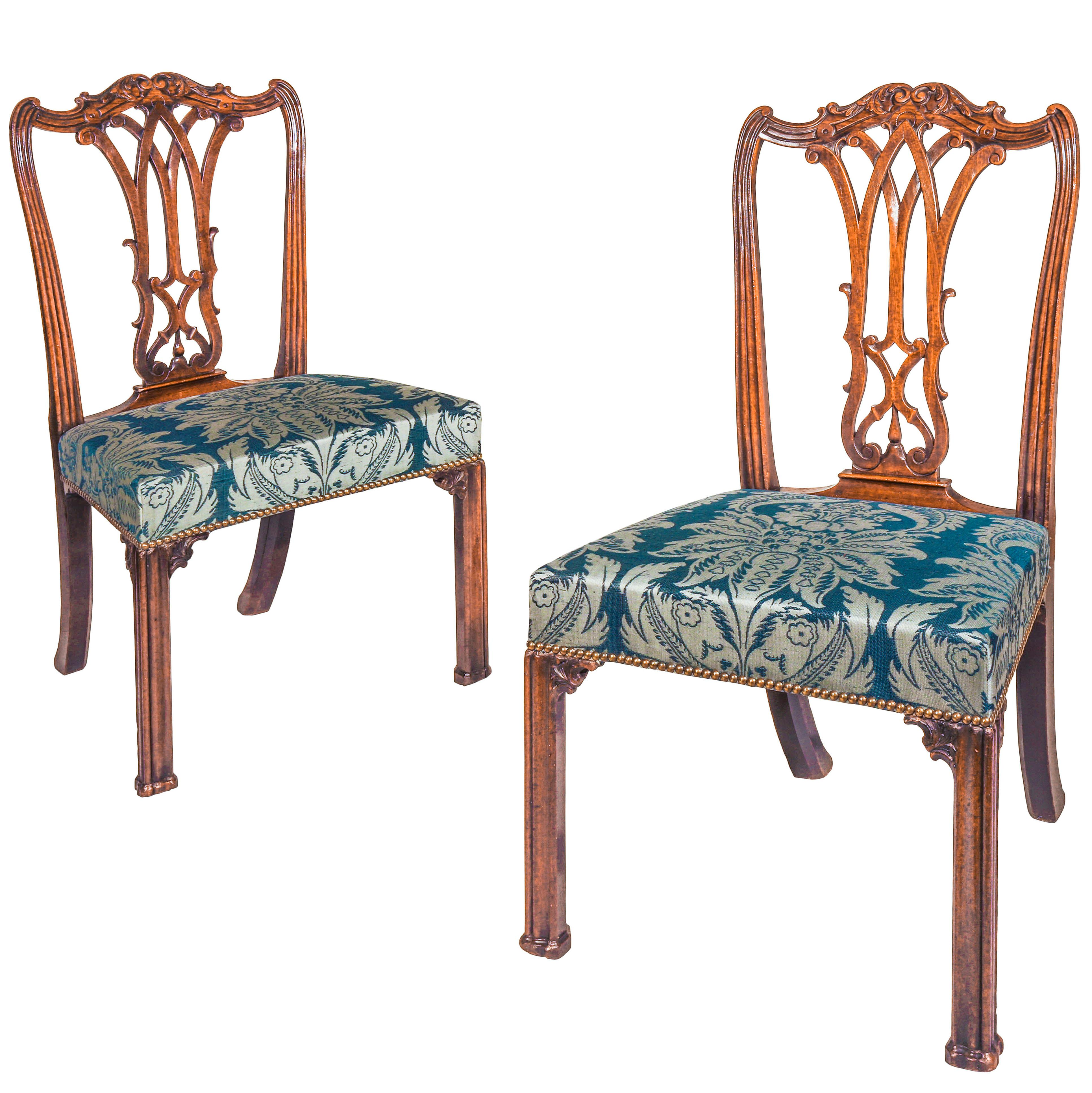 Pair Of 18th Century Chippendale Chairs For Sale At 1stdibs