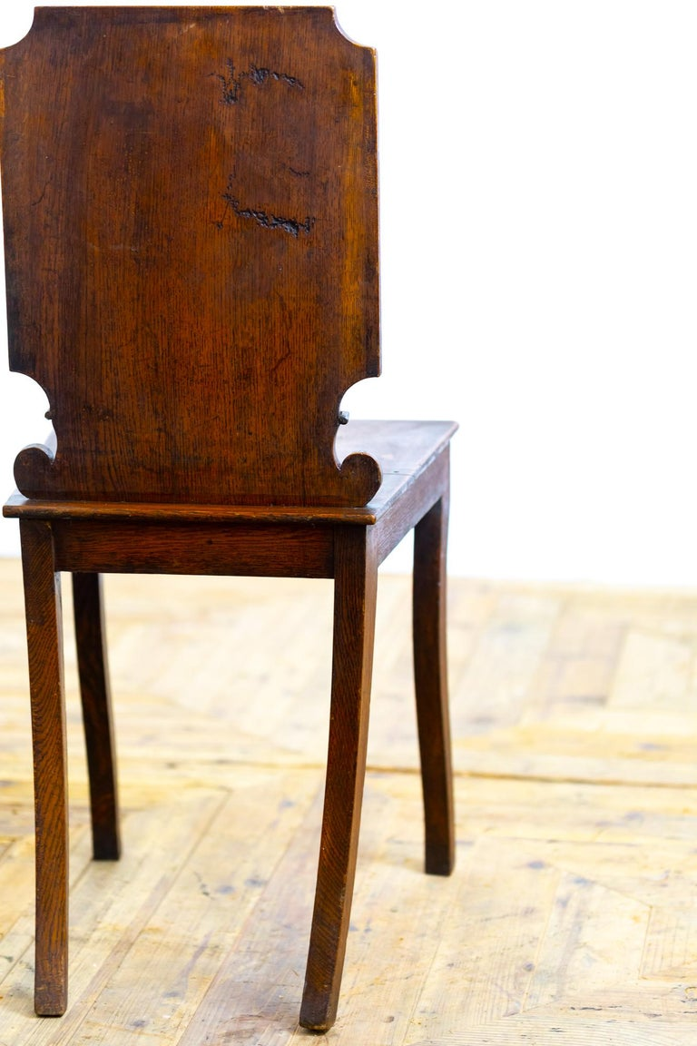 Pair of 18th Century Country House Hall Chairs In Good Condition For Sale In Pickering, North Yorkshire