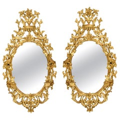 Pair of 18th Century Dutch Carved Giltwood Wall Mirrors