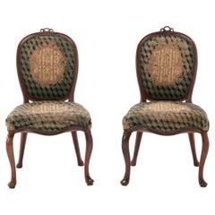 Pair of 18th Century Dutch Mahogany Side Chairs