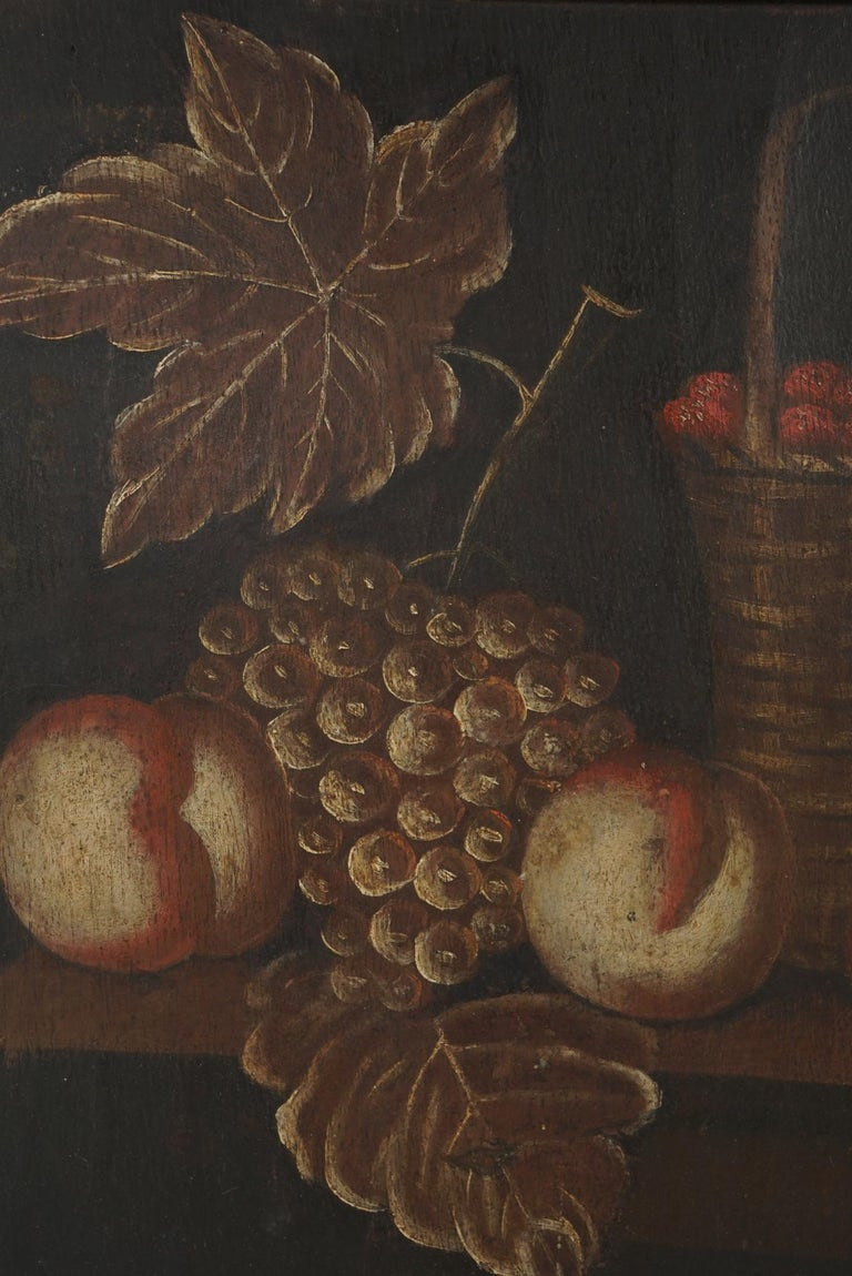 Pair of 18th Century Dutch Painted Still Lifes on Panels For Sale 4