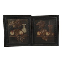 Pair of 18th Century Dutch Painted Still Lifes on Panels