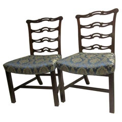 Pair of 18th Century English Chippendale Side Chairs