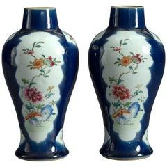 Pair of 18th Century Famille Rose Porcelain Vases