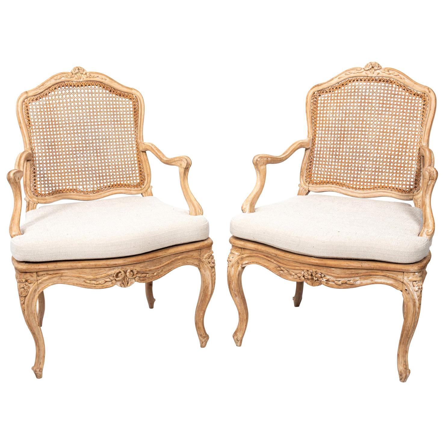 Pair of 18th Century French Armchairs