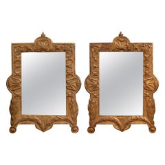 Pair of 18th Century French Carved Giltwood Wall Mirrors