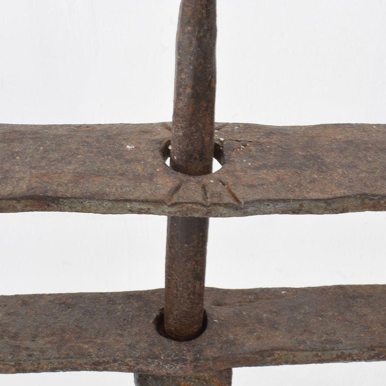 Pair of 18th Century French Hand Forged Iron Candleholders For Sale 10