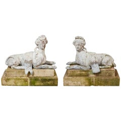 Impressive Large Scale 18th Century French Lead Sphinxes