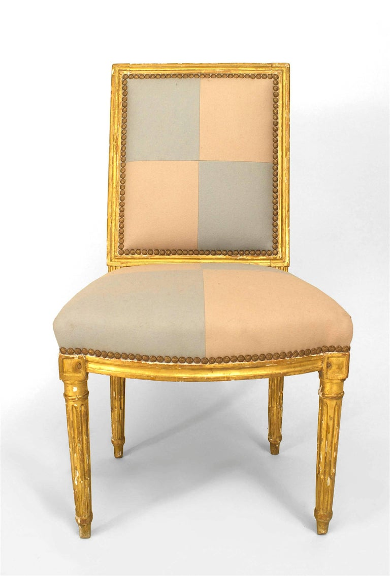 Pair of French Louis XVI Gilt Side Chairs In Good Condition For Sale In New York, NY